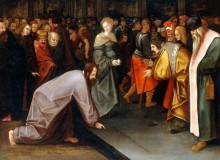 Христос и грешница - Брейгель, Питер (Младший)