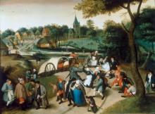 Крестьяне, возвращающиеся с деревенского праздника - Брейгель, Питер (Младший)