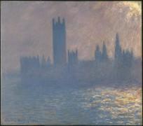 Здание Парламента в Лондоне, эффект солнечного света - Моне, Клод