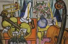 Натюрморт с виолончелью и басовой скрипкой - Бекман, Макс