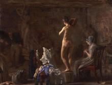 Уильям Раш, вырезающий аллегорическую фигуру реки Скулкилл - Икинс, Томас