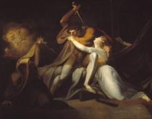 Парцифаль освобождает Белисану от волшебных пут Урма - Фюссли, Иоганн Генрих