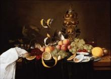 Натюрморт из фруктов с устрицами - Джиллеменс, Ян Пауэл (младший)