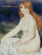 Белокурая купальщица - Ренуар, Пьер Огюст