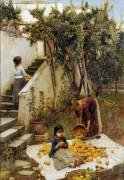 Сбор апельсинов - Уотерхаус, Джон Уильям