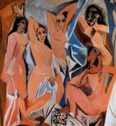 Барышни из Авиньона, 1907 - Пикассо, Пабло