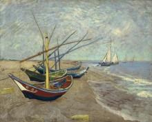 Рыбацкие лодки на пляже в Сент-Мари - Гог, Винсент ван