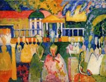 Дамы в кринолинах, 1909 - Кандинский, Василий Васильевич
