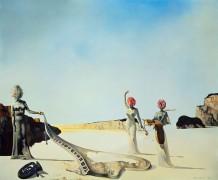 Три сюрреалистки, держащие в руках останки оркестра - Дали, Сальвадор