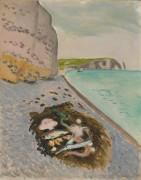 Большая скала и рыбы - Матисс, Анри