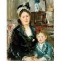 Мадам Бурсье с дочерью - Моризо, Берта