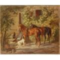 Лошади у подъезда - Альбрехт, Адам