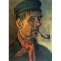 Голова крестьянина с трубкой (Head of a Peasant with a Pipe), 1884 - Гог, Винсент ван