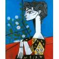 Жаклин с цветами, 1954 - Пикассо, Пабло