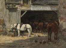 Конюшня с лошадьми для  аренды, 18985-90 - Будэн, Эжен