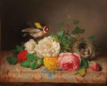 Щегол, розы и птичье гнездо - Лауэр, Йозеф