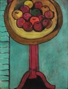 Тарелка с яблоками на столе - Матисс, Анри
