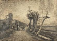 За ограждением (Behind the Hedges), 1884 - Гог, Винсент ван
