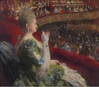 Мадам Эдмон Пикар в ложе театра Монне, 1887 - Рейссельберге, Тео ван