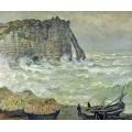 Бурное море в Этрета, 1883 - Моне, Клод