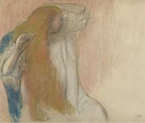 Женщина расчесывается, 1894 - Дега, Эдгар