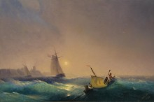 Голландский корабль у берега - Айвазовский, Иван Константинович