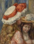 Девушки в шляпках - Ренуар, Пьер Огюст