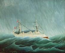 Корабль в штормовом море - Руссо, Анри