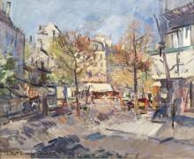 Осень в Париже, 1929 - Коровин, Константин Алексеевич