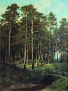 Мостик в лесу, 1895 - Шишкин, Иван Иванович