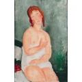 Молодая женщина в ночной рубашке - Модильяни, Амадео