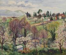 Весенний пейзаж в Швейцарии - Манген, Анри