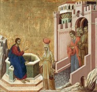 Христос и самаритянка у колодца - Дуччо ди Буонинсенья