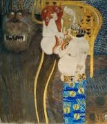 Бетховенский фриз - Враждебные силы - Климт, Густав