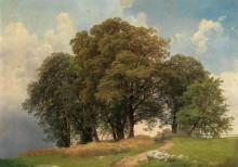 Пейзаж  деревьями - Хольцер, Йозеф