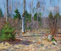 Весенний день на опушке леса - Жуковский, Станислав Юлианович