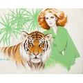 Рыжеволосая женщина с тигром - Сарноф, Артур