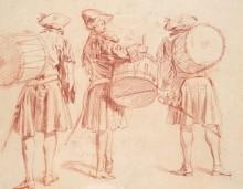 Военные барабанщики - Ватто, Жан Антуан