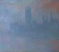 Здание Парламента в Лондоне, туман - Моне, Клод