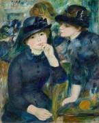 Две девушки в черном - Ренуар, Пьер Огюст