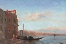 Фигуры, выходящие из дворца, Венеция -  Зим, Феликс