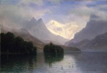 Озеро в горах - Бирштадт, Альберт