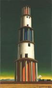Башня и поезд - Кирико, Джорджо де