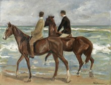 Два всадника на пляже - Либерман, Макс