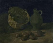 Натюрморт с медным котелком и кувшином (Still Life with Brass Cauldron and Jug), 1885 - Гог, Винсент ван