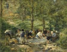 Место стирки в Трувиле, 1885-88 - Буден, Эжен