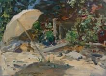 Пляж в Шайнкок, Лонг-Айленд, 1902 -  Уайлс, Ирвинг Рамсей