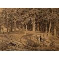 Еловый лес (У ручья), 1890 - Шишкин, Иван Иванович
