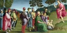Алтарь Ансидеи (пределла) - Проповедь Иоанна Крестителя - Рафаэль, Санти