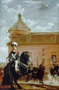 Бальтазар Карлос и граф Оливарес у конюшни - Веласкес, Диего